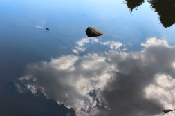Sky reflecting in the river -- near Kegalle, Sri Lanka