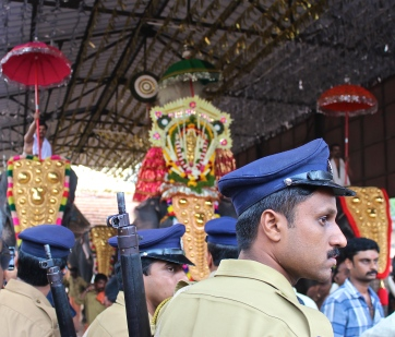 Keeping the peace at Pooram -- Kollam, Kerala, India